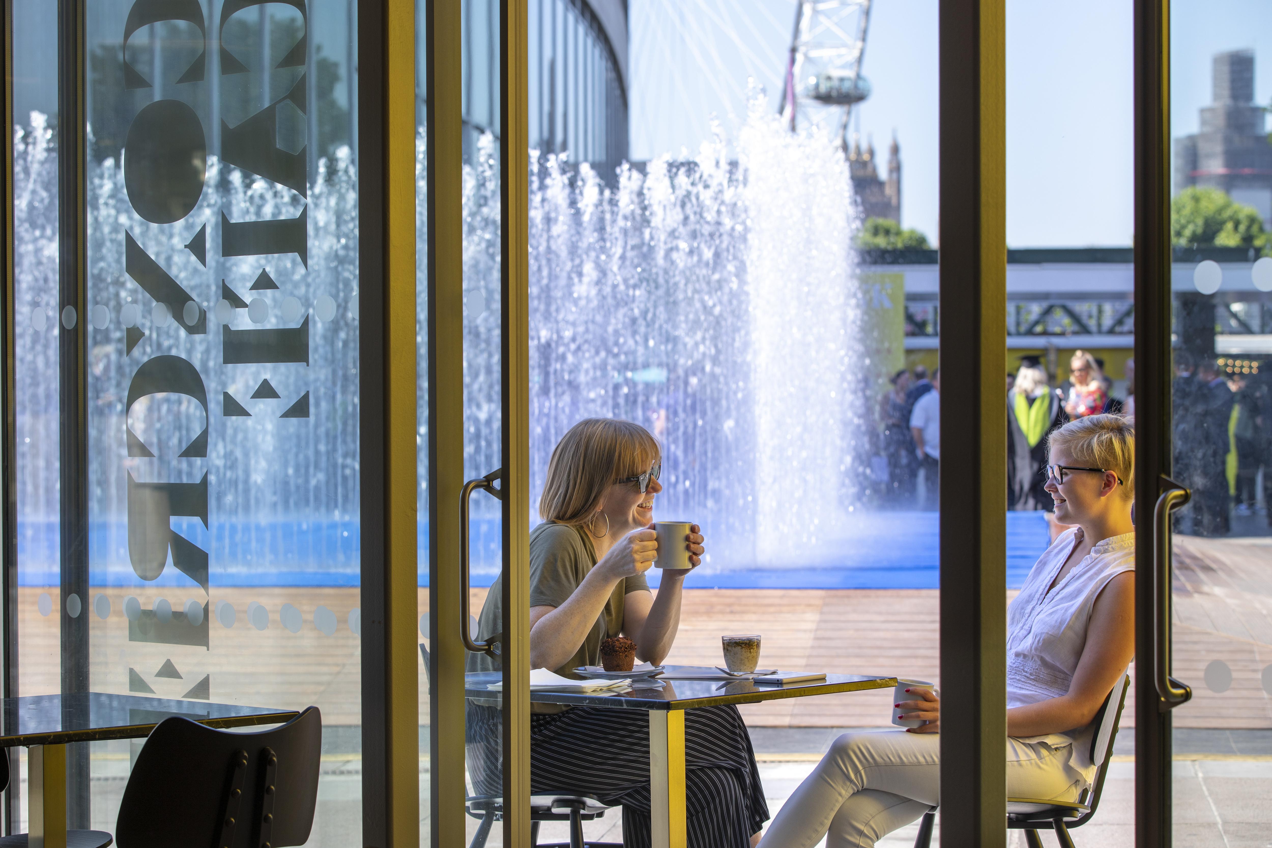 Family enjoying drinks at Concrete cafe