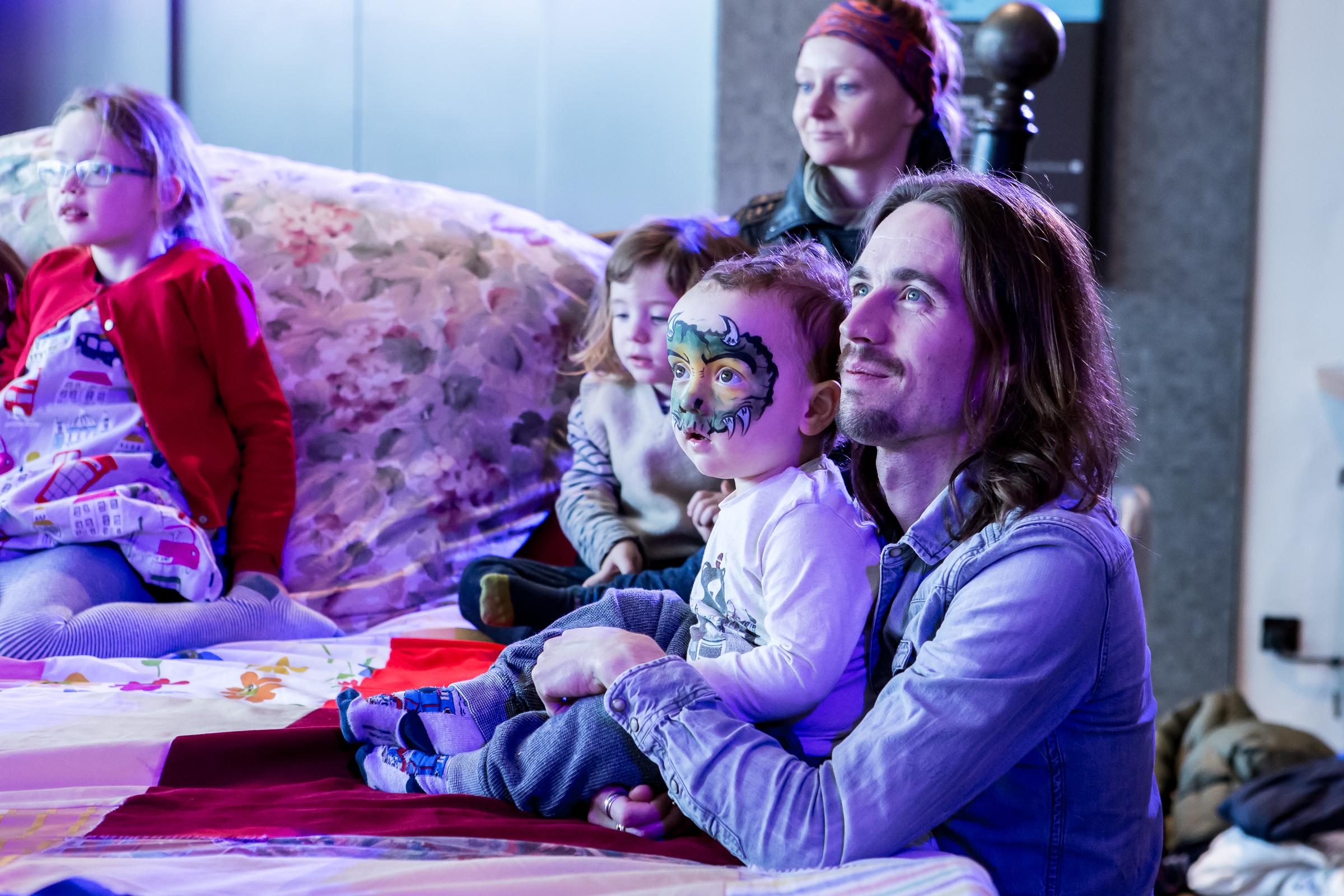 THE GIANT STORYTELLING BED at Imagine Children's Festival Credit Victor Frankowski 2016