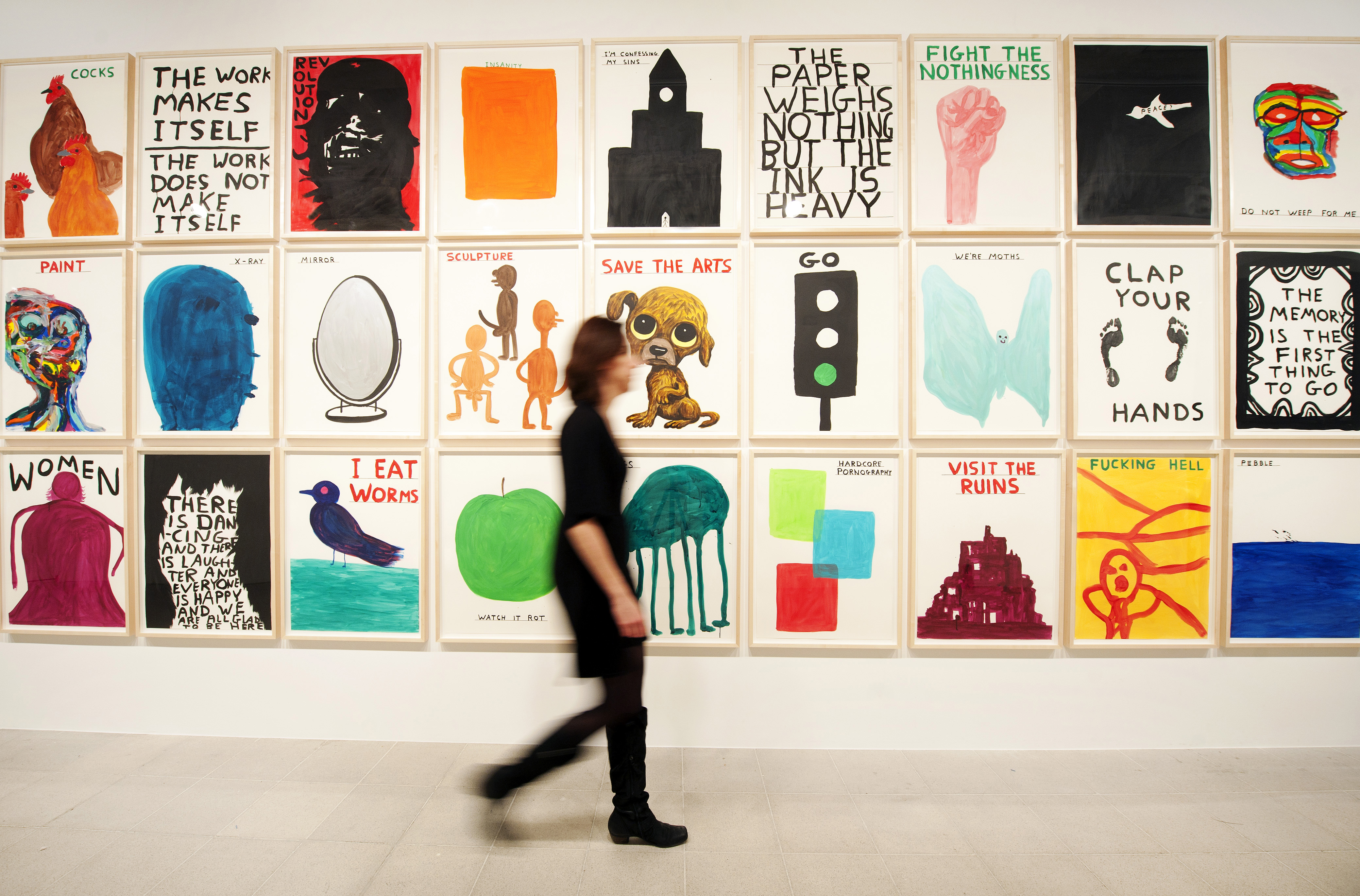 David Shrigley exhibition at Hayward Gallery, London. .Photo by Linda Nylind. 29/1/2012.