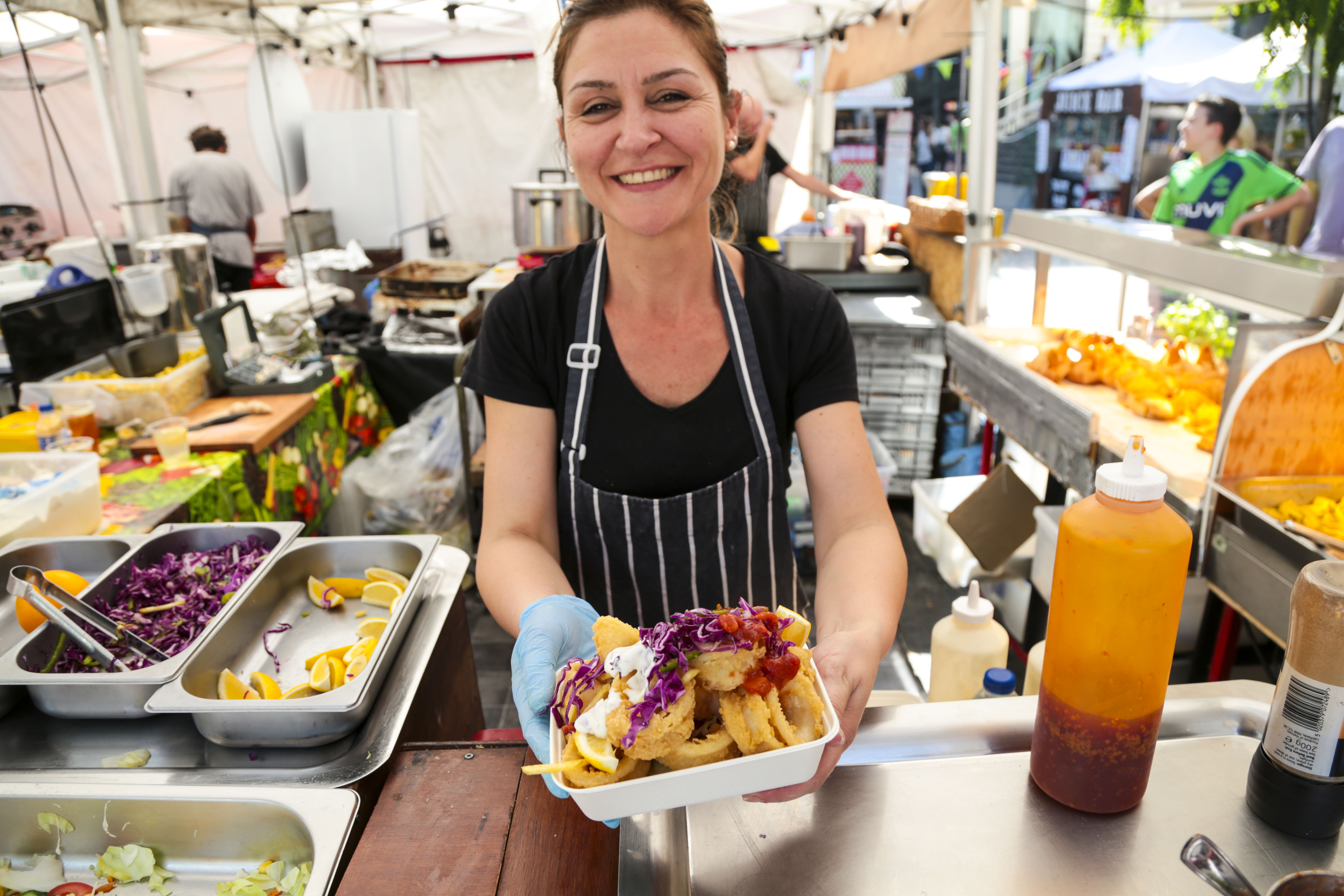 Southbank Centre Food Market.Stall 18 - Bello Gnocco.August 2016