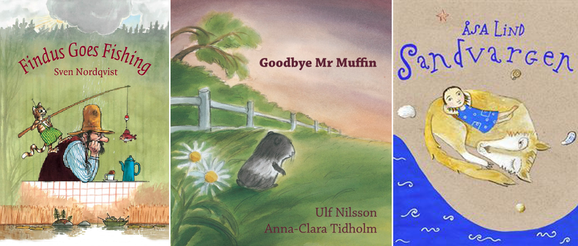 Covers of Nordic books from Room for Children