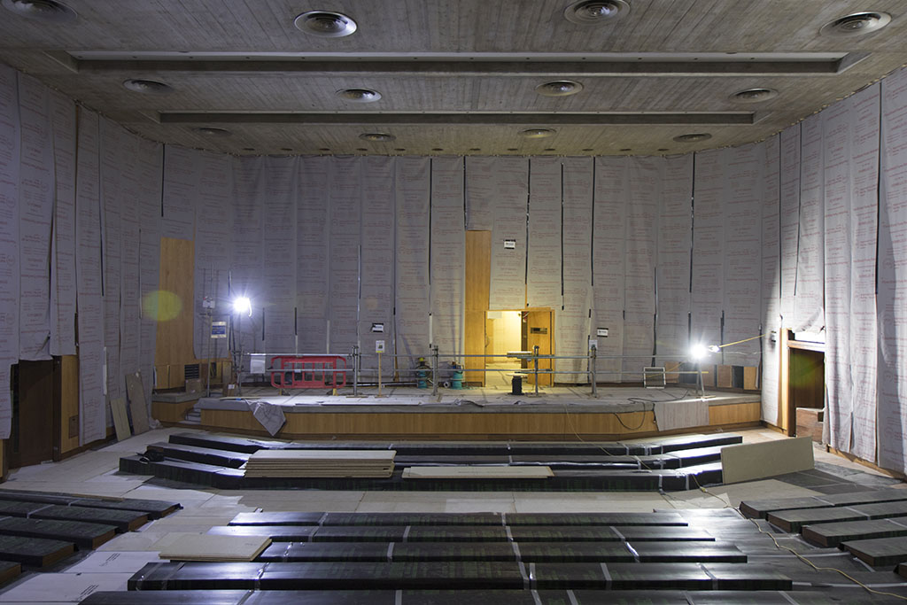 October 2017 - refurbishment 1960s buildings. Purcell Room auditorium.